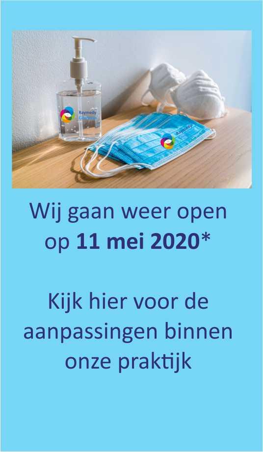 Raymedy centrum Eindhoven gaat weer open